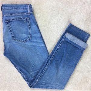 Rag & Bone Tomboy Mid Rise Crop Slim Leg Jeans